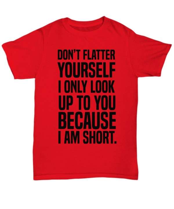 Don't flatter yourself I only look up to you because I'm short Shirt