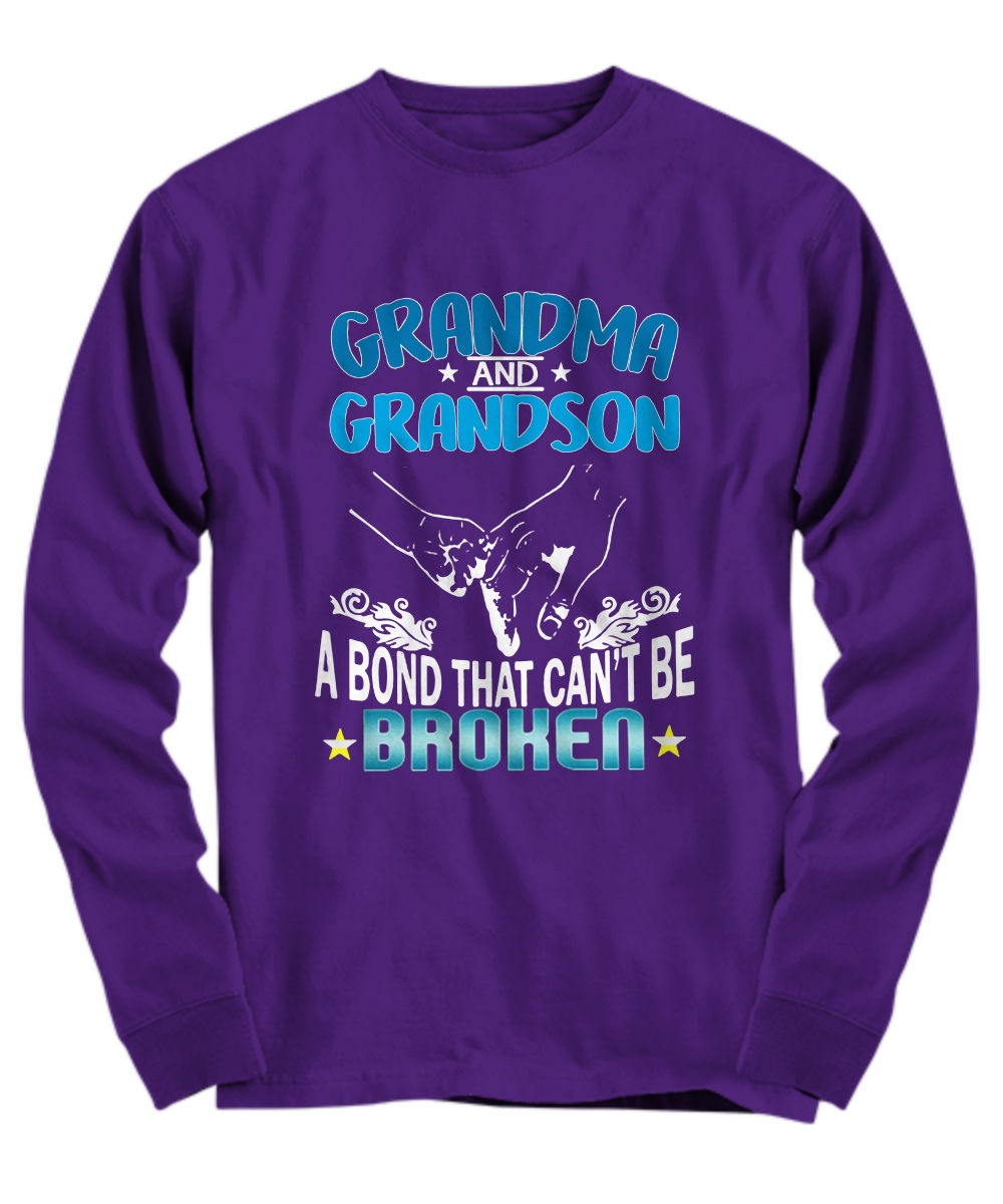 Grandma and Grandson a bond that can't be broken Long sleeve