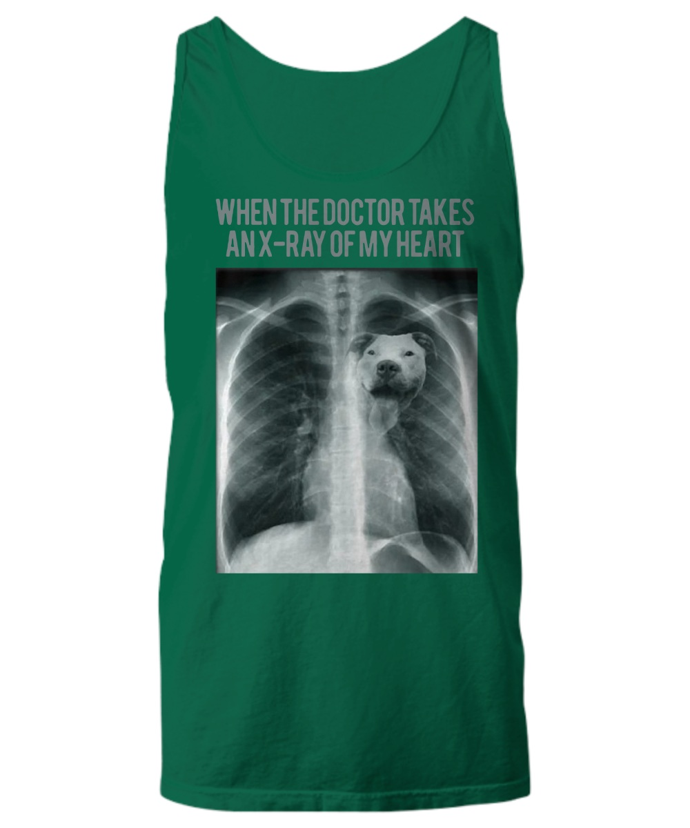 Pitbull When the doctor takes an x ray of my heart tank top
