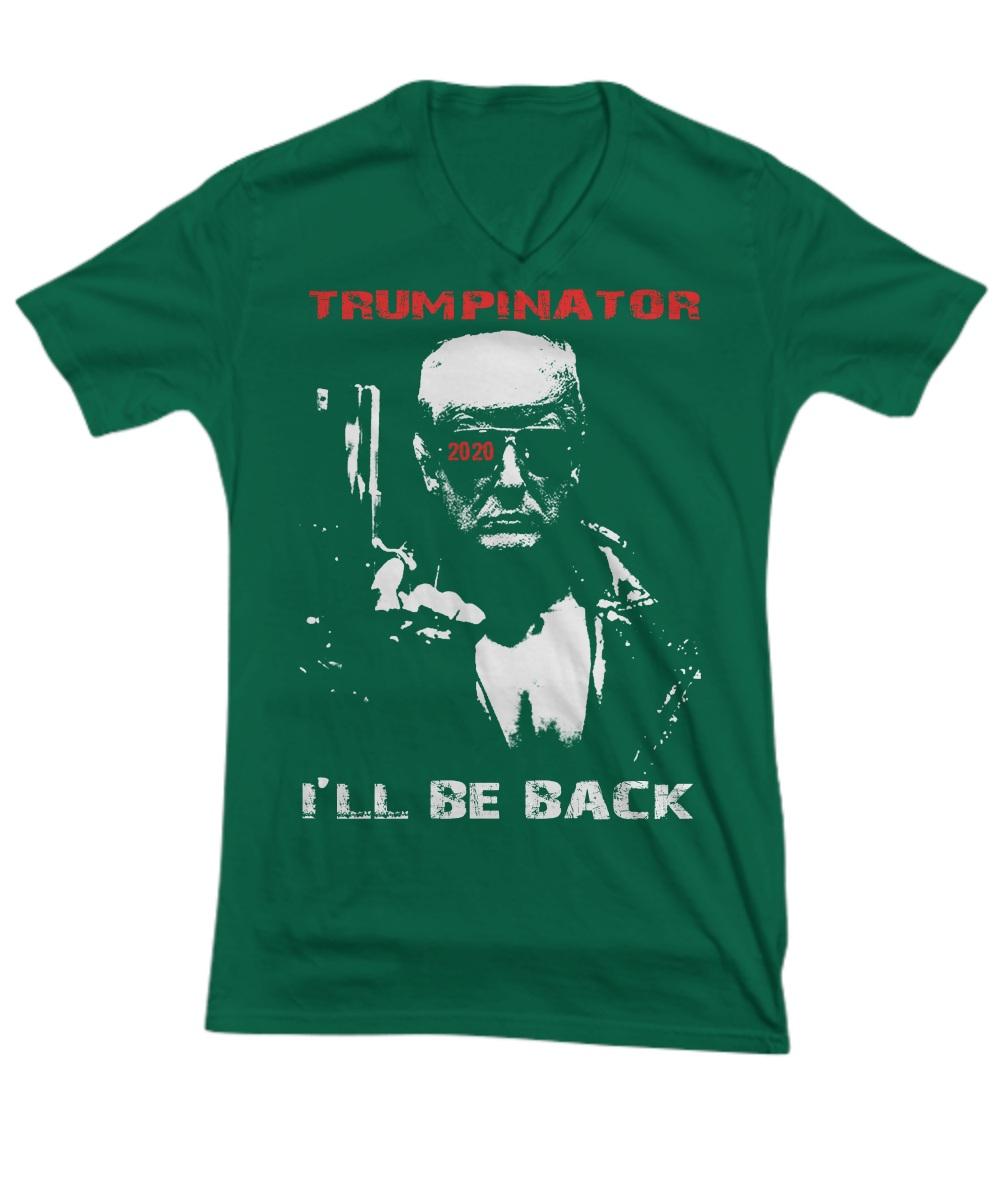 Trumpinator 2020 I'll Be Back Support Trump V-neck