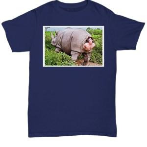 Ace Ventura Rhino Scene Poster shirt