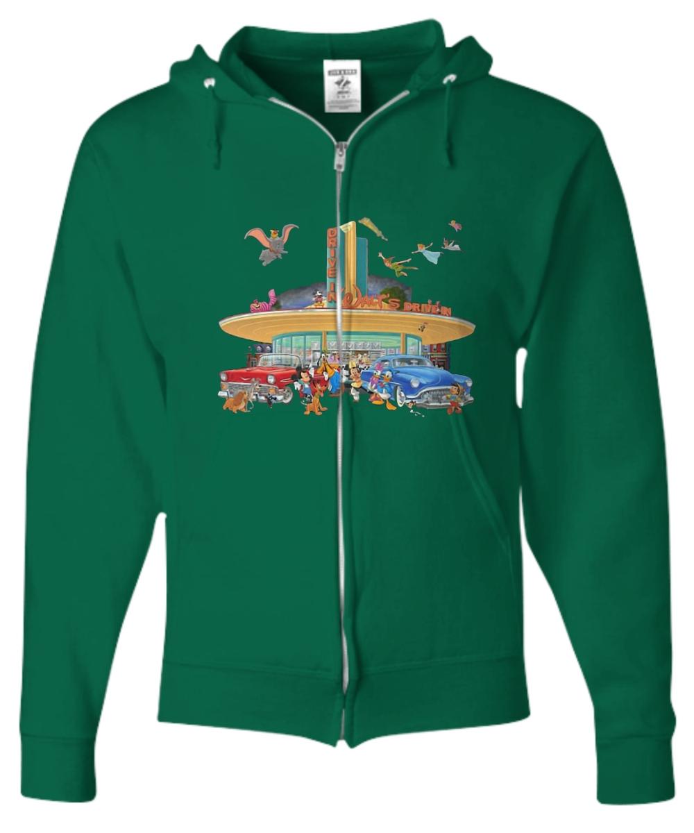 Disney drive in walt's Zip Hoodie