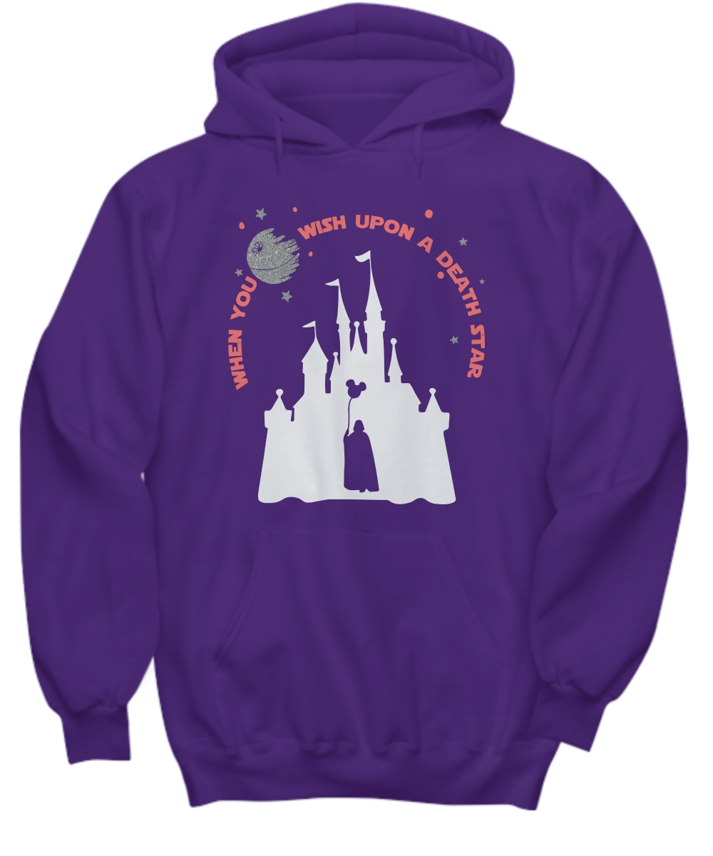 Disney when you wish upon a death star war Hoodie