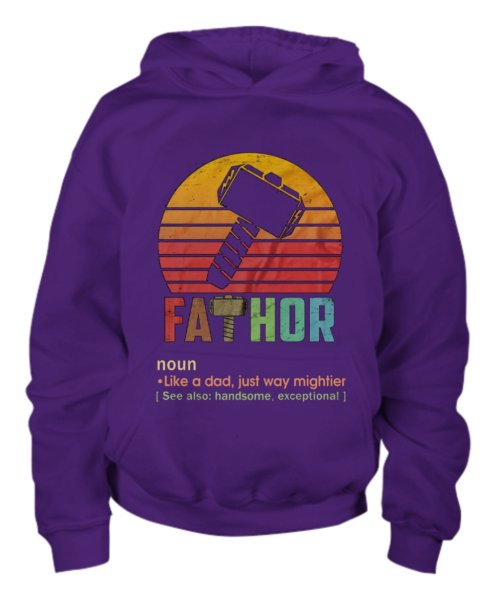 Fathor Definition Like A Dad Just Way Mightier Youth Hoodie