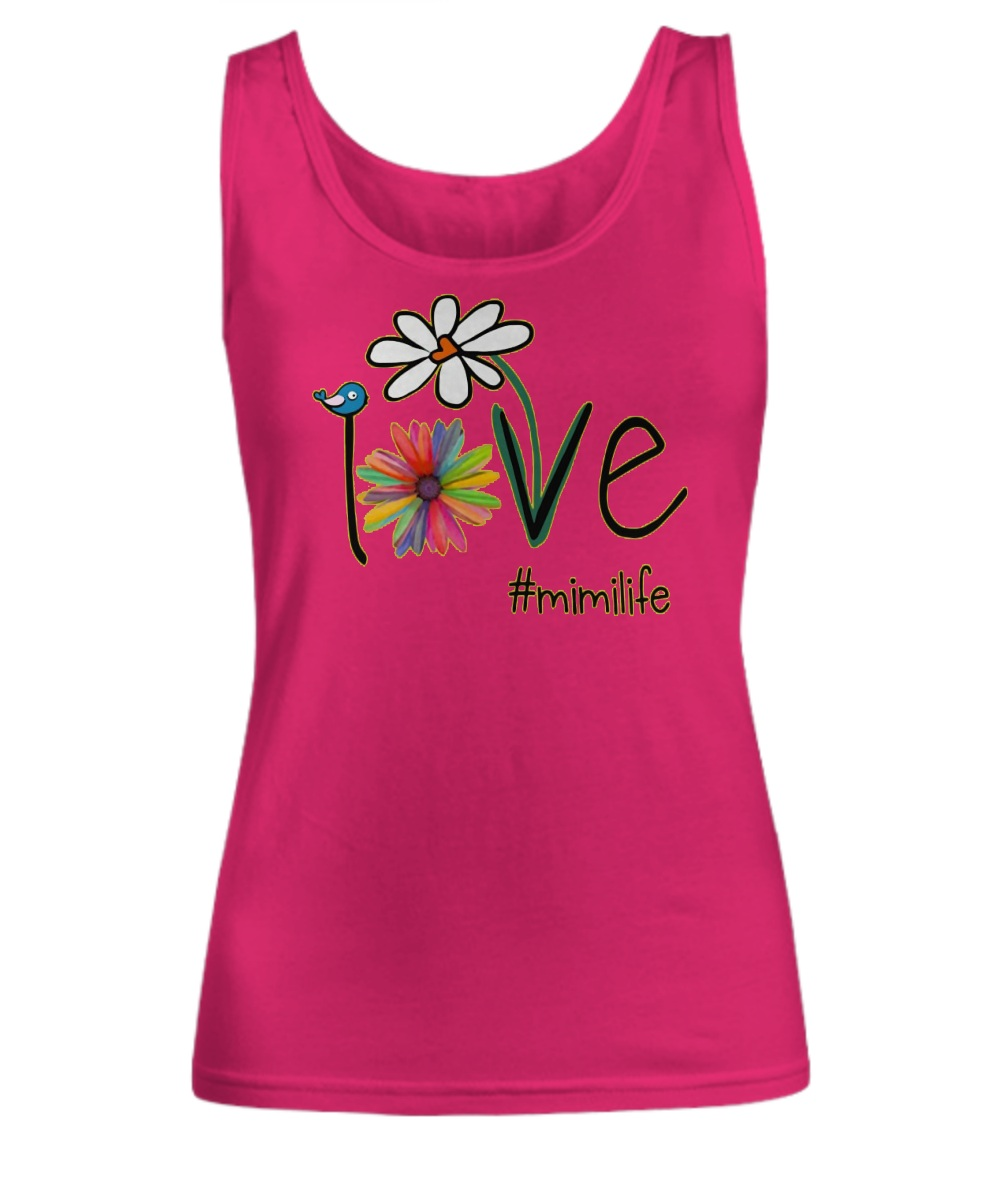 Mimilife Bird Flower Love Tank top