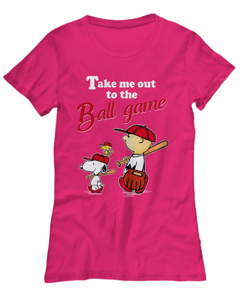 Snoopy take me out to the ball game  Women's Tee
