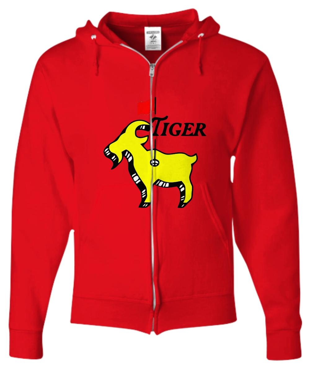Tiger woods goat masters Zip Hoodie