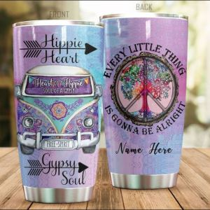 Hippie heart every little thing is gonna be alright tumbler