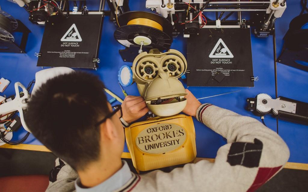 Oxford Brookes University - construction of robot