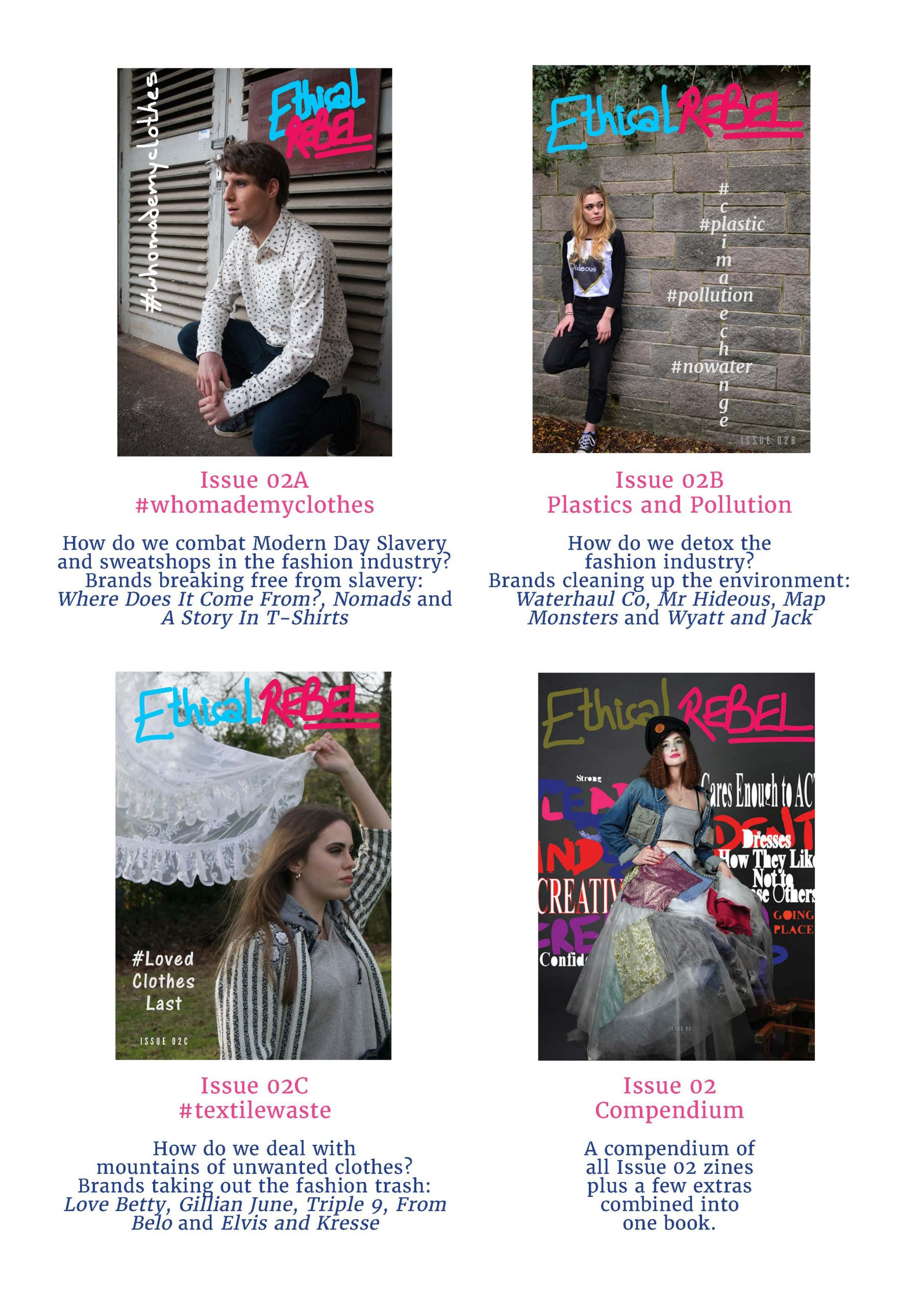 Ethical Rebel magazines in the Student Take Over