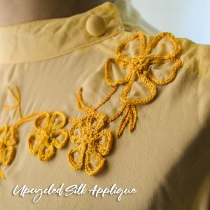 upcycled silk applique