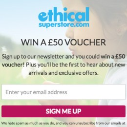 win ethical superstore £50 vouchers
