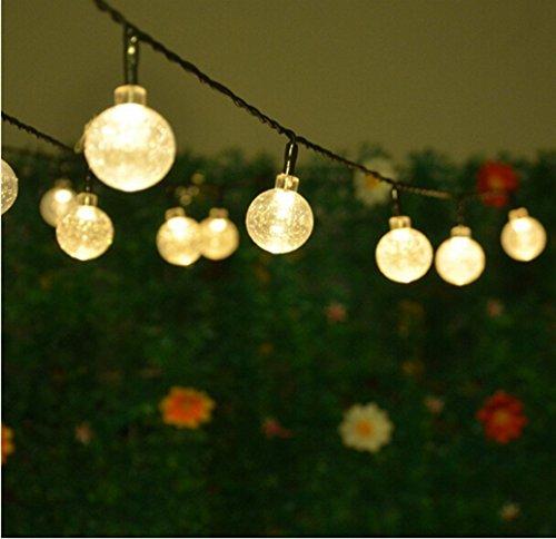 Keeda solar globe fairy lights 30 led crystal ball patio string keeda solar globe fairy lights aloadofball Image collections