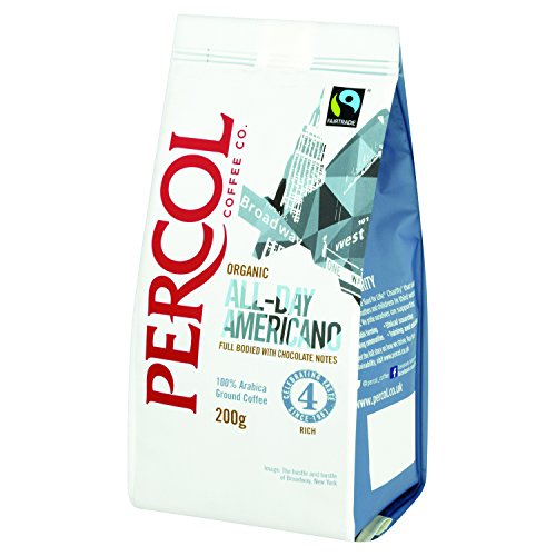 Percol Organic Ft All Day Americano Ground Coffee 200 G Pack Of 2