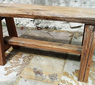Phenomenal Chunky Bench Chair Reclaimed And Recycled Teak Wood Hand Made And Fairtrade Garden Furniture Short Links Chair Design For Home Short Linksinfo