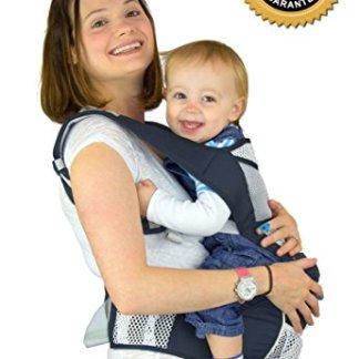 Nimnik Ergonomic Hipseat Multi Position Baby Carrier Dark Blue