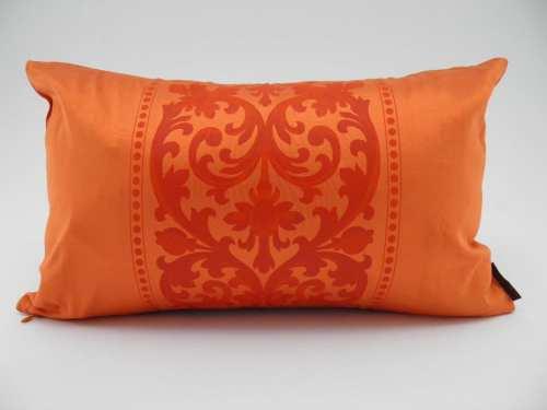 Coussin Angkor 2 En 1 - Fuchsia / Orange - 45x27cm