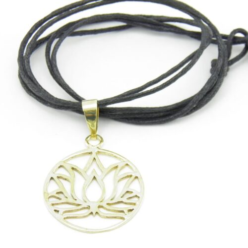 Lotus Pendant – Recycled Brass