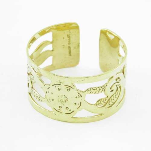 Le Bracelet Laiton Recyclé – Motif Traditionnel