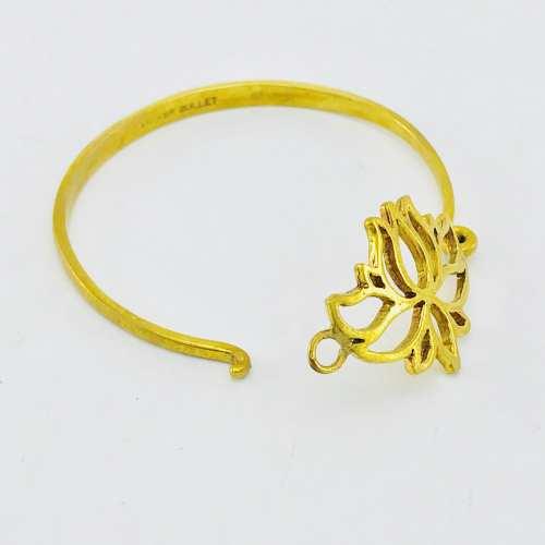 Le Bracelet Laiton Recyclé - Lotus Ouvert