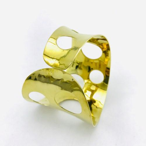Le Bracelet Bandeau Percé – Laiton Recyclé