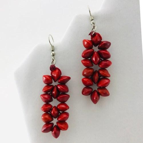 3 Flower Earrings – Natural Seeds Earrings