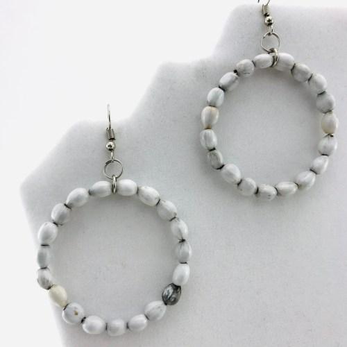 Hoop – Natural Seeds Earrings