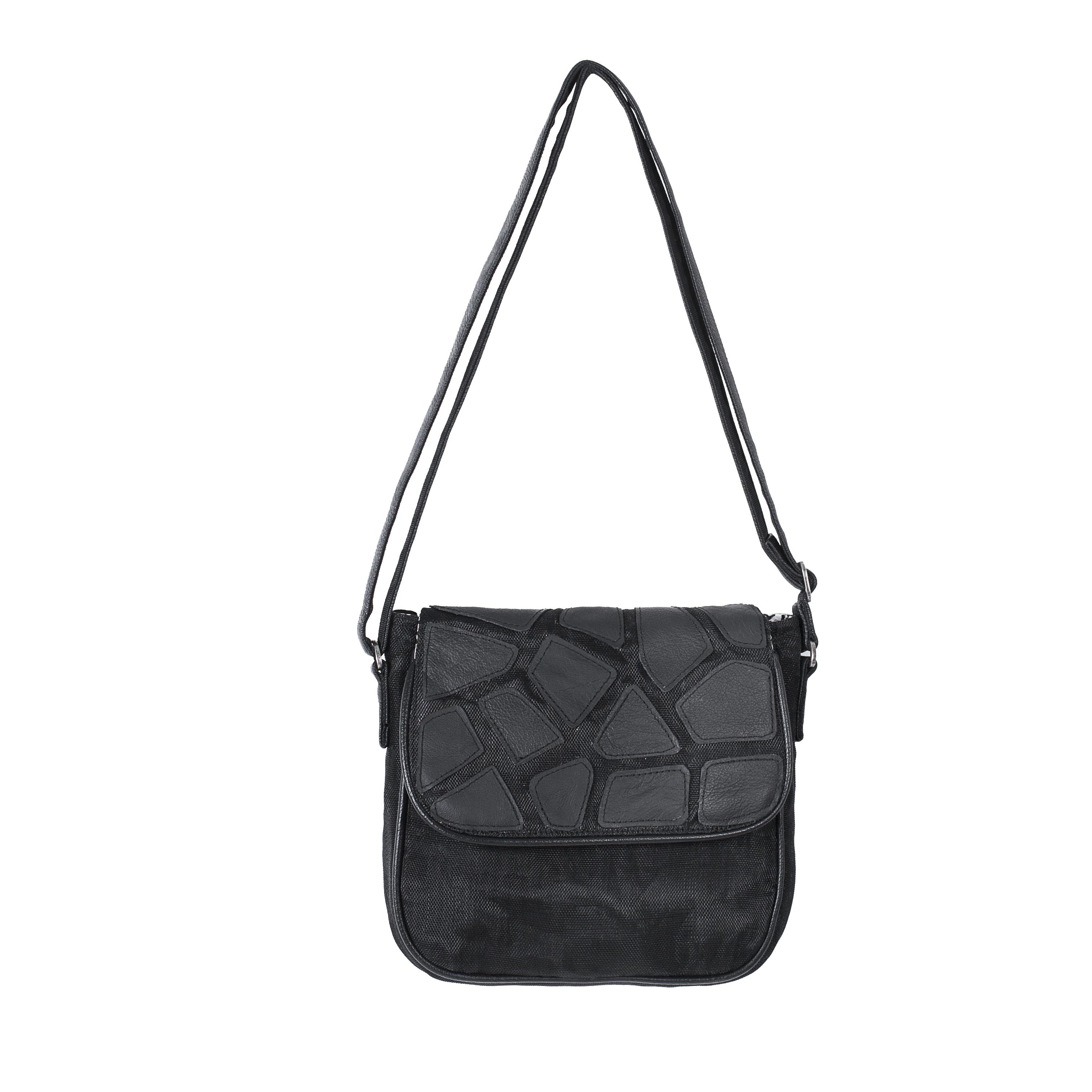 Square - Eco-friendly Leather Bag - Black