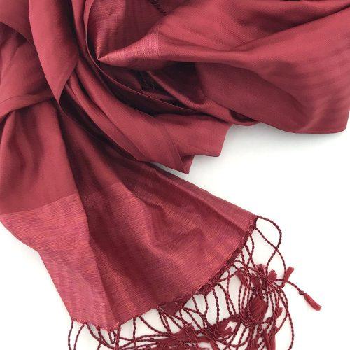 Silk Scarf – Small Elegant – Red