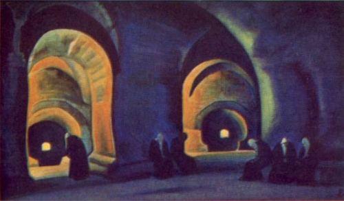 Николай Рерих. Башня ужаса (Совет) 1939