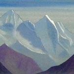 Гималаи [Призрачные вершины]. 1935–1936 Himalayas [The Ghostly Tops] Картон, темпера. 30,5 х 45,8