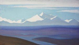 Картина Н.К.Рериха. Граница Тибета 1940