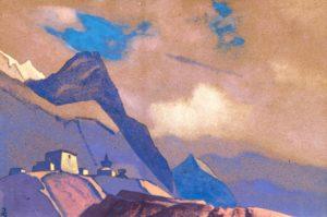 Картина Н.К.Рериха. Тибет. У Брамапутры. 1936