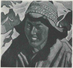 Картина Н.К.Рериха. Тибетка 1927