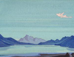 Картина Н.К.Рериха. Тибетские озёра. 1933