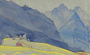 Картина Н.К.Рериха. Тибетский этюд (2) 1934