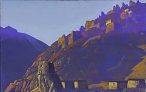 Картина Н.К.Рериха. Замок Майтрейи (Пейзаж Тибета) 1929
