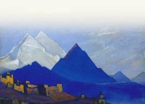 Картина Н.К.Рериха. Ладак [Ле] 1935-1936