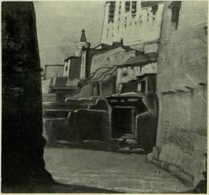 Картина Н.К.Рериха. Лех. Тибет [Сех. Тибет] 1925