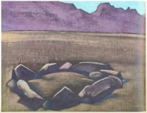 Картина Н.К.Рериха. Могила в Транс-Гималаях. Тибет 1927-1928