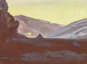 Картина Н.К.Рериха. Монастырь Шаругон, Тибет. 1928