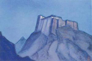 Картина Н.К.Рериха. Твердыня Тибета (эскиз) 1932 ?
