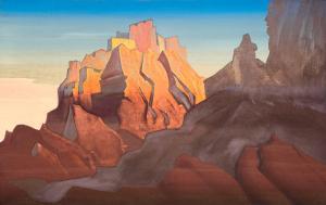 Картина Н.К.Рериха. Твердыня Тибета. (Басго) 1932