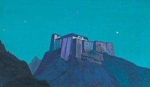 Картина Н.К.Рериха. Твердыня Тибета. 1932