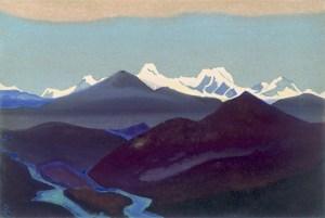 Картина Н.К.Рериха. Тибет [Тибет [Явление вечных снегов]], [Тибет [Черная гора]] 1937