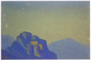 Картина Н.К.Рериха. Тибет [Тибет (Звездная ночь в горах)] 1938