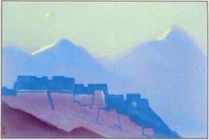 Картина Н.К.Рериха. Тибет. [Тибет [Лунный свет]] 1938