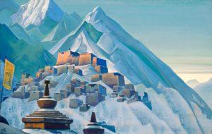 Картина Н.К.Рериха. Тибет. 1933
