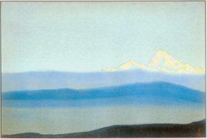 Картина Н.К.Рериха. Тибет. [Тибет [За туманами]] 1942