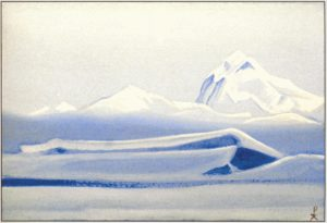 Картина Н.К.Рериха. Тибет. [Тибет [Безмолвие]] 1942
